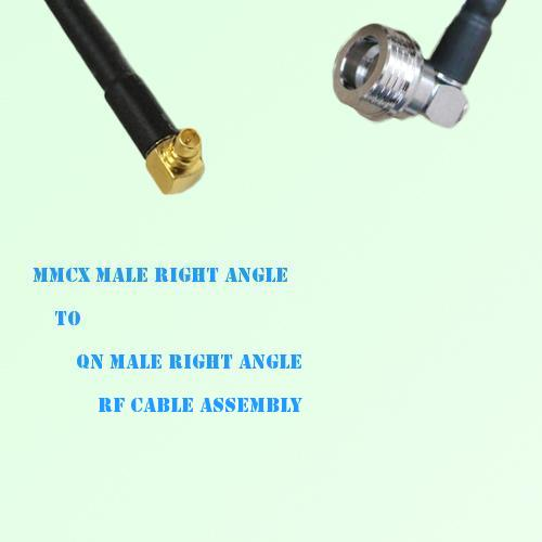 MMCX Male Right Angle to QN Male Right Angle RF Cable Assembly