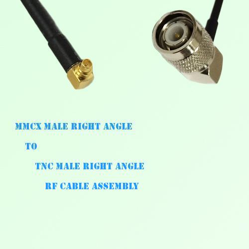 MMCX Male Right Angle to TNC Male Right Angle RF Cable Assembly