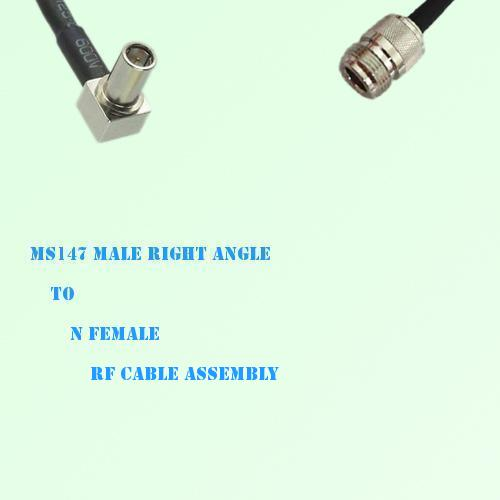 MS147 Male Right Angle to N Female RF Cable Assembly