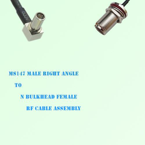 MS147 Male Right Angle to N Bulkhead Female RF Cable Assembly