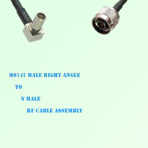 MS147 Male Right Angle to N Male RF Cable Assembly