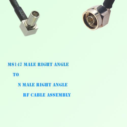 MS147 Male Right Angle to N Male Right Angle RF Cable Assembly