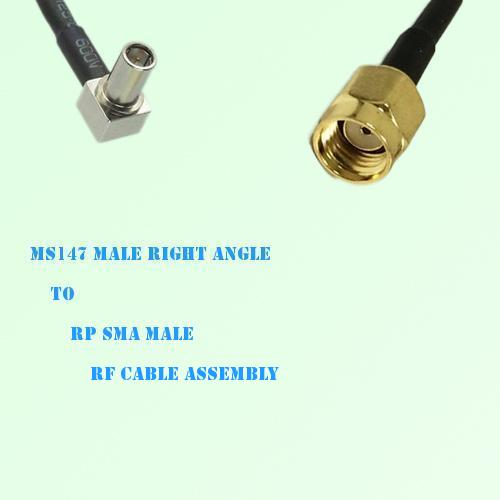 MS147 Male Right Angle to RP SMA Male RF Cable Assembly