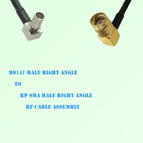 MS147 Male Right Angle to RP SMA Male Right Angle RF Cable Assembly