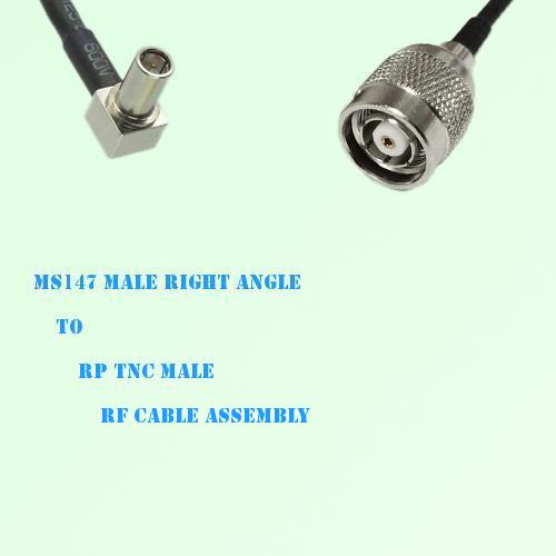 MS147 Male Right Angle to RP TNC Male RF Cable Assembly