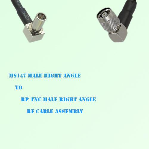 MS147 Male Right Angle to RP TNC Male Right Angle RF Cable Assembly