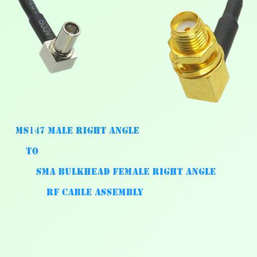 MS147 Male R/A to SMA Bulkhead Female R/A RF Cable Assembly