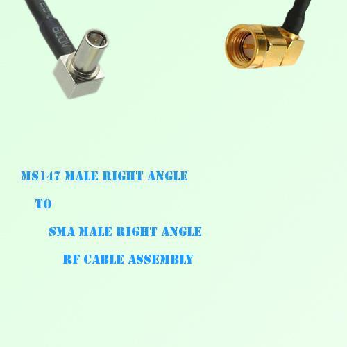 MS147 Male Right Angle to SMA Male Right Angle RF Cable Assembly