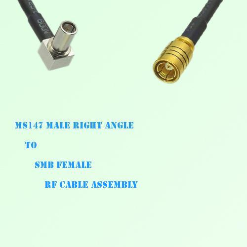 MS147 Male Right Angle to SMB Female RF Cable Assembly