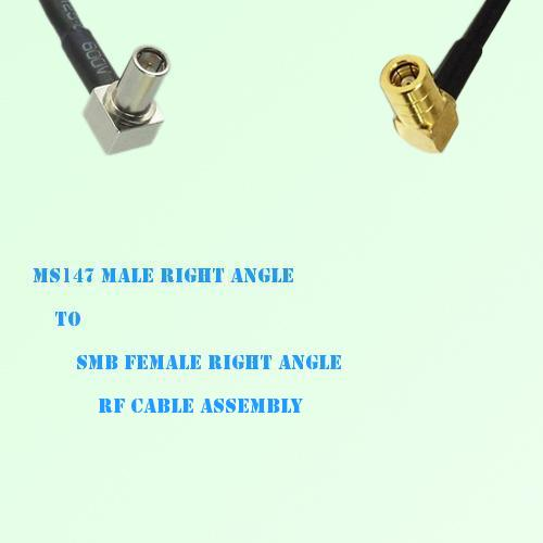 MS147 Male Right Angle to SMB Female Right Angle RF Cable Assembly