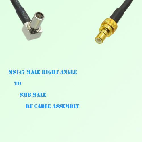 MS147 Male Right Angle to SMB Male RF Cable Assembly