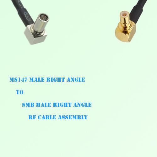 MS147 Male Right Angle to SMB Male Right Angle RF Cable Assembly