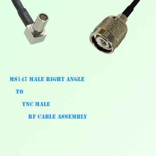 MS147 Male Right Angle to TNC Male RF Cable Assembly