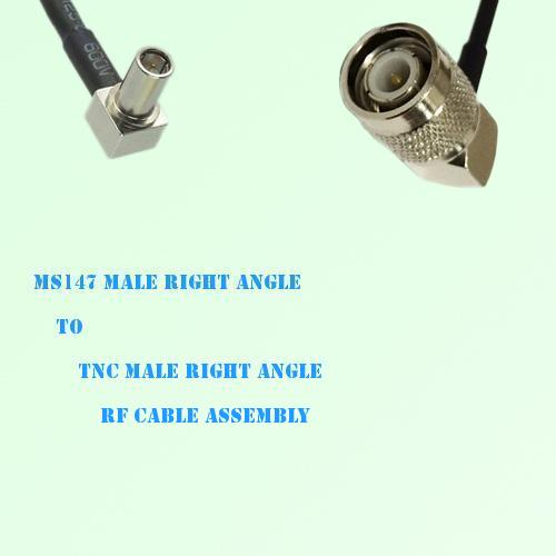 MS147 Male Right Angle to TNC Male Right Angle RF Cable Assembly