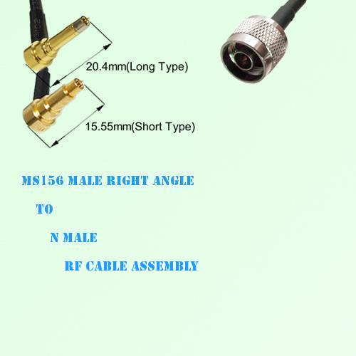 MS156 Male Right Angle to N Male RF Cable Assembly