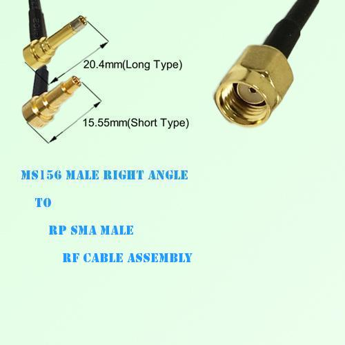 MS156 Male Right Angle to RP SMA Male RF Cable Assembly