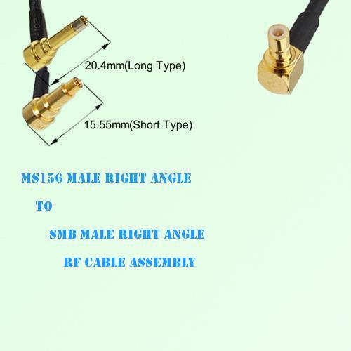 MS156 Male Right Angle to SMB Male Right Angle RF Cable Assembly