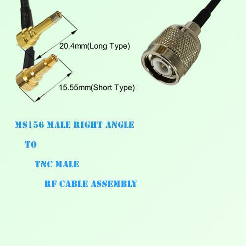 MS156 Male Right Angle to TNC Male RF Cable Assembly