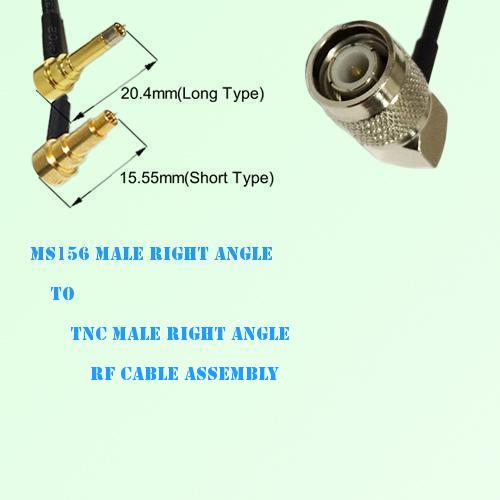 MS156 Male Right Angle to TNC Male Right Angle RF Cable Assembly