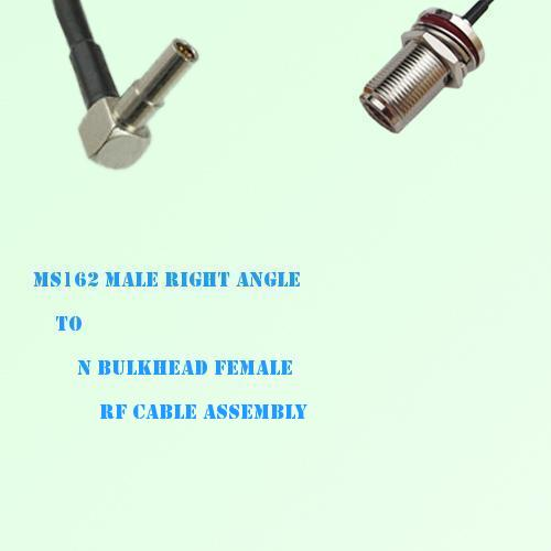 MS162 Male Right Angle to N Bulkhead Female RF Cable Assembly