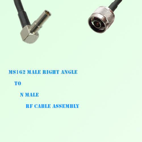 MS162 Male Right Angle to N Male RF Cable Assembly