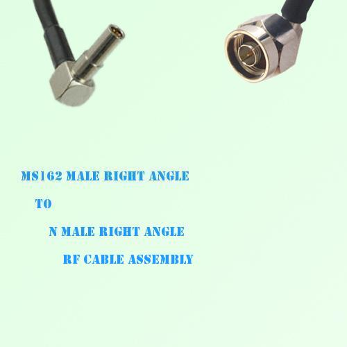 MS162 Male Right Angle to N Male Right Angle RF Cable Assembly