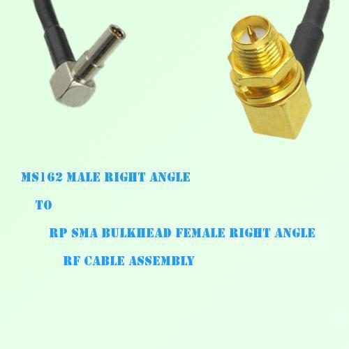 MS162 Male R/A to RP SMA Bulkhead Female R/A RF Cable Assembly