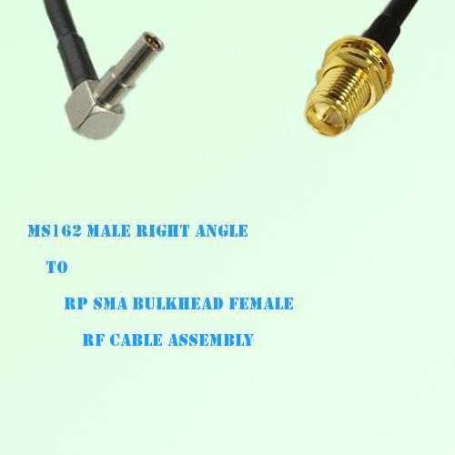 MS162 Male Right Angle to RP SMA Bulkhead Female RF Cable Assembly