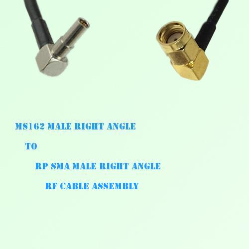 MS162 Male Right Angle to RP SMA Male Right Angle RF Cable Assembly