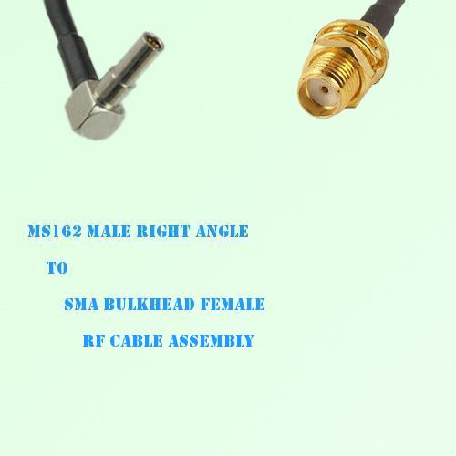 MS162 Male Right Angle to SMA Bulkhead Female RF Cable Assembly