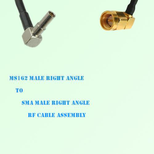 MS162 Male Right Angle to SMA Male Right Angle RF Cable Assembly