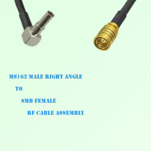 MS162 Male Right Angle to SMB Female RF Cable Assembly