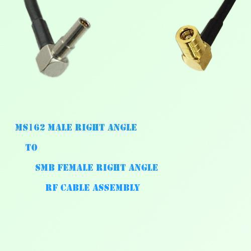 MS162 Male Right Angle to SMB Female Right Angle RF Cable Assembly