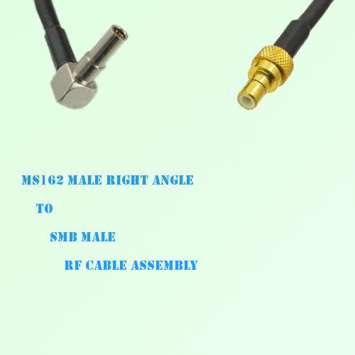 MS162 Male Right Angle to SMB Male RF Cable Assembly