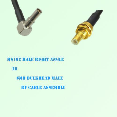 MS162 Male Right Angle to SMB Bulkhead Male RF Cable Assembly