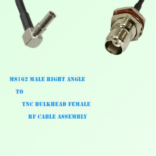 MS162 Male Right Angle to TNC Bulkhead Female RF Cable Assembly