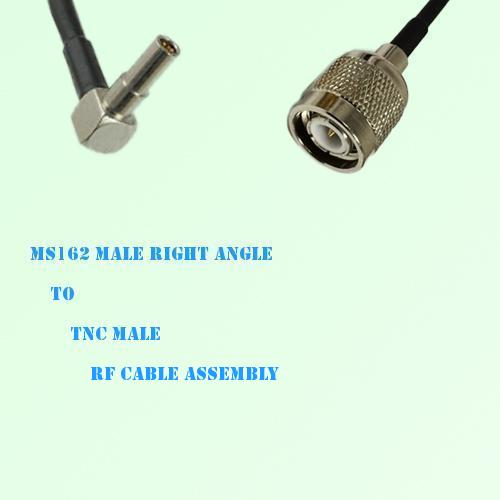MS162 Male Right Angle to TNC Male RF Cable Assembly