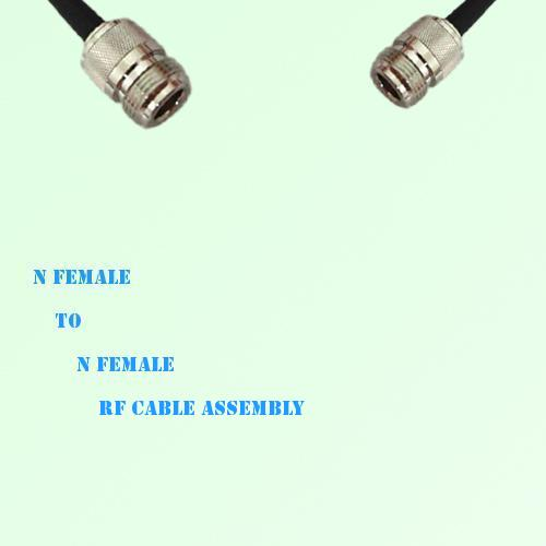 N Female to N Female RF Cable Assembly