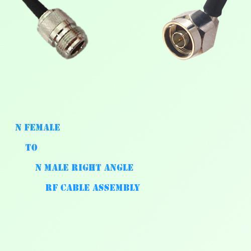 N Female to N Male Right Angle RF Cable Assembly