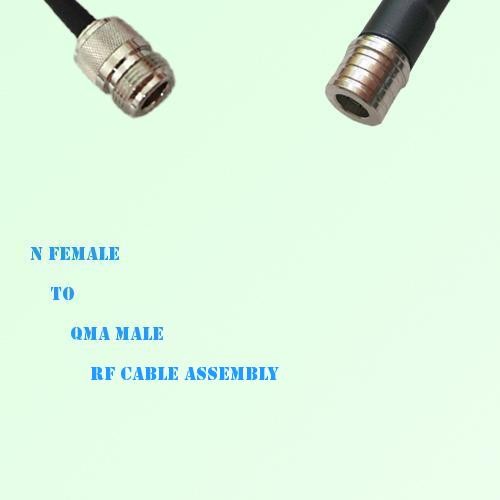 N Female to QMA Male RF Cable Assembly