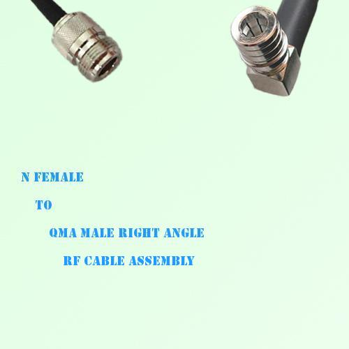 N Female to QMA Male Right Angle RF Cable Assembly