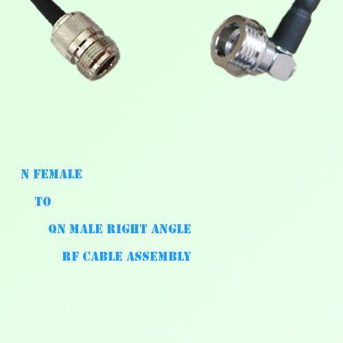 N Female to QN Male Right Angle RF Cable Assembly