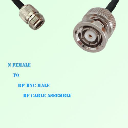 N Female to RP BNC Male RF Cable Assembly