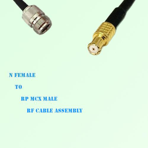 N Female to RP MCX Male RF Cable Assembly