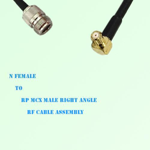 N Female to RP MCX Male Right Angle RF Cable Assembly