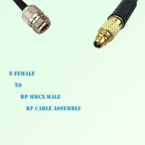 N Female to RP MMCX Male RF Cable Assembly