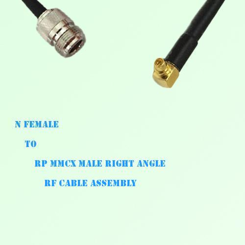 N Female to RP MMCX Male Right Angle RF Cable Assembly