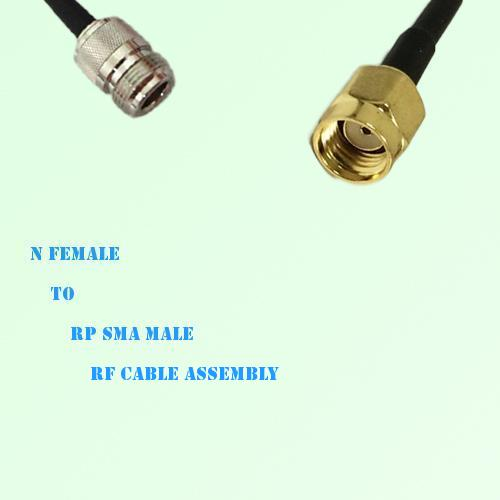 N Female to RP SMA Male RF Cable Assembly