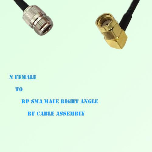 N Female to RP SMA Male Right Angle RF Cable Assembly