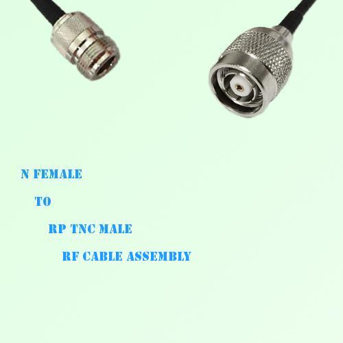 N Female to RP TNC Male RF Cable Assembly